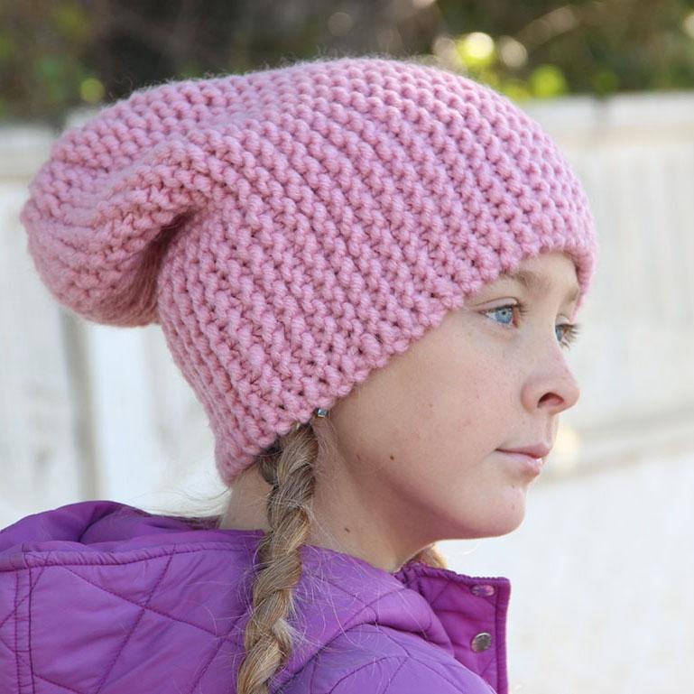 женская шапка бини спицами