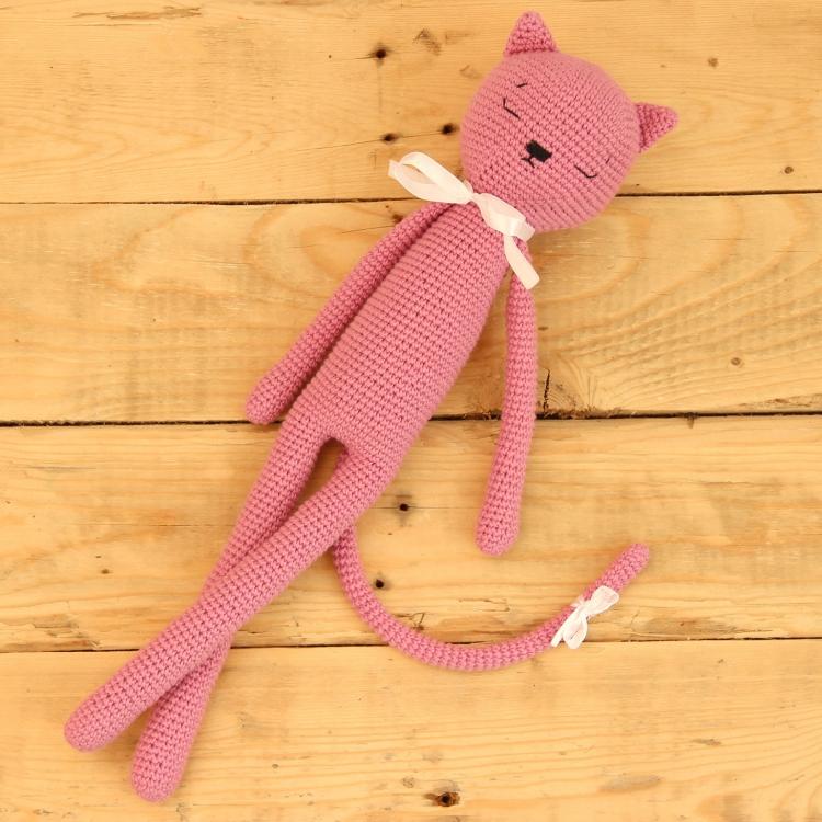 вязаная игрушка кот крючком ручной работы