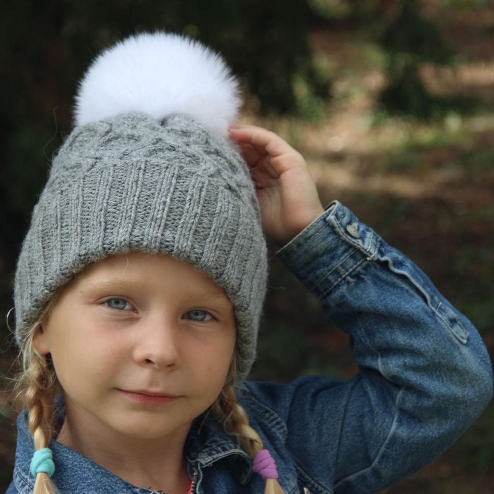 вязаные детские шапки ручной работы спицами
